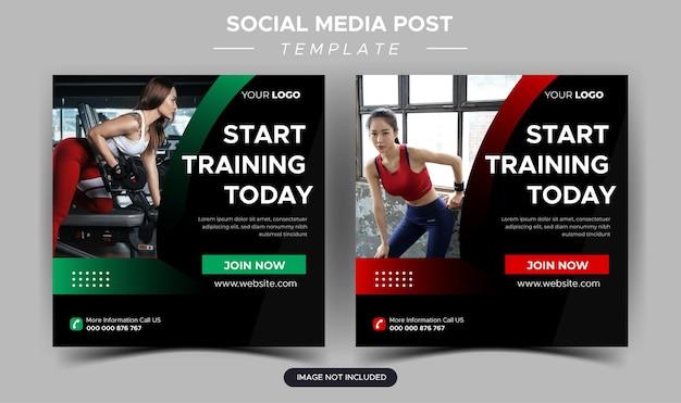 Dgfitness-fitnessstudio-social-media-post und webbanner-design