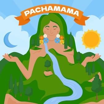 Dia de la pachamama-abbildung