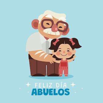 Dia de los abuelos feierillustration
