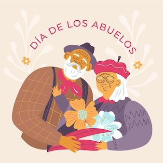 Dia de los abuelos illustration
