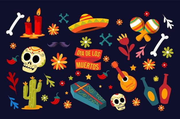 Dia de los muertos design-asset