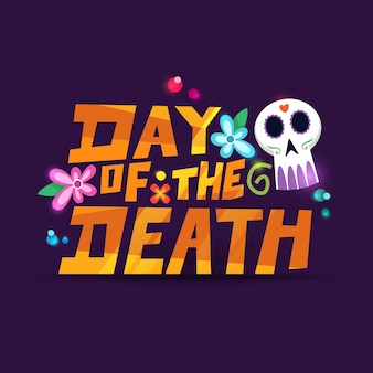 Dia de muertos doodle dekoration