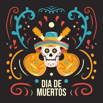 Dia de muertos hintergrundkonzept