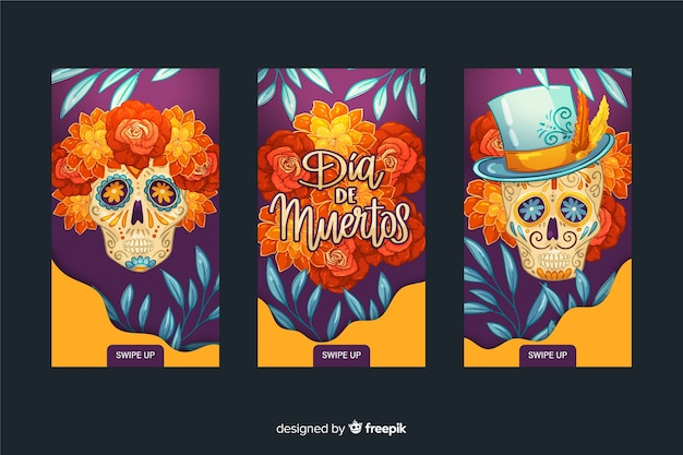 Día de muertos instagram geschichten sammlung