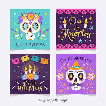 Día de muertos instagram post collection