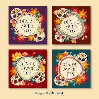Día de muertos instagram post collection