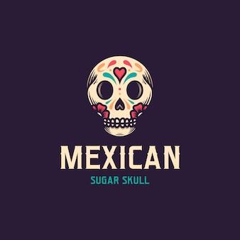 Dia de muertos schädel logo