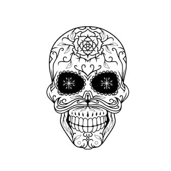 Dia de muertos schädeldesign a