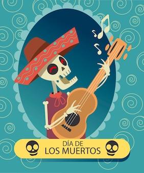 Dia de muertos skelett mariachi