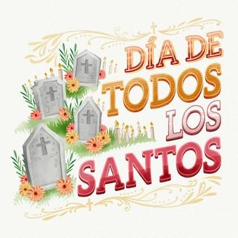 Día de todos los santos - schriftzug