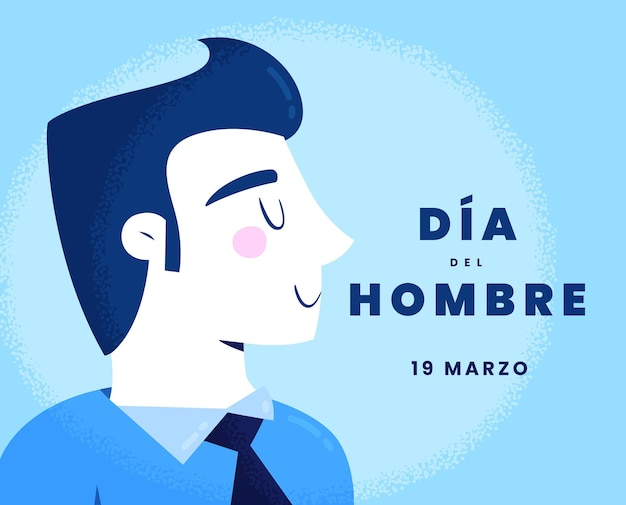 Dia del hombre illustration im flachen design