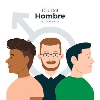 Dia del hombre illustration mit männern