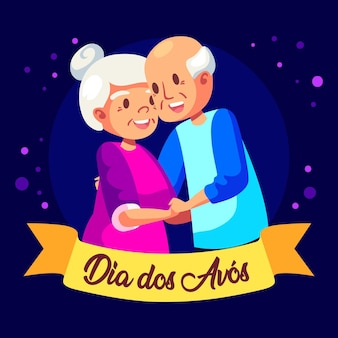 Dia dos avós illustrationsthema