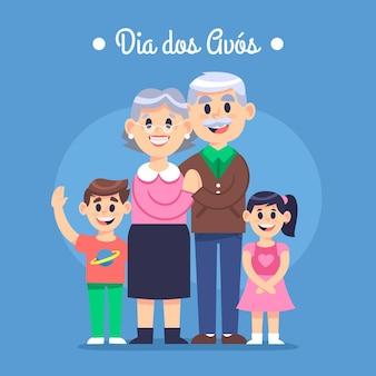 Dia dos avós konzept
