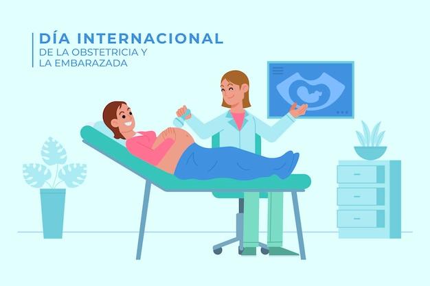 Dia internacional de la geburtshilfe y la embarazada illustration