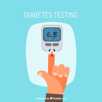 Diabetes-bluttest mit flachem design