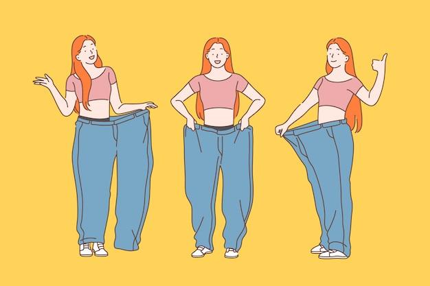 Diät, gewichtsverlust, abnehmen.