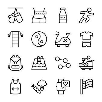 Diätplan, sportergänzung, ernährungssymbole