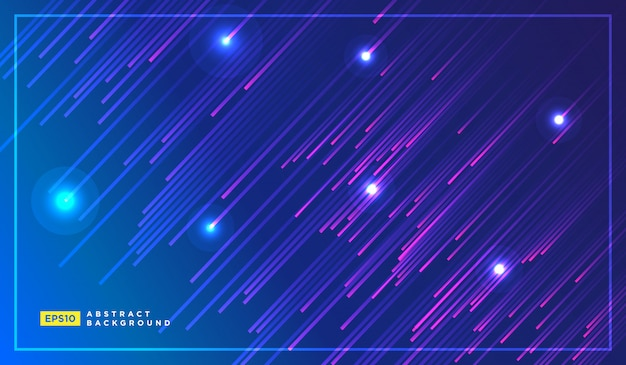 Diagonale streifenlinien, die mit glühendem licht fallen