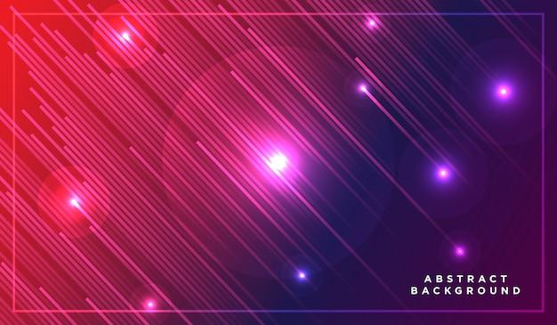 Diagonale streifenlinien, die mit schatten und glühender heller illustration fallen