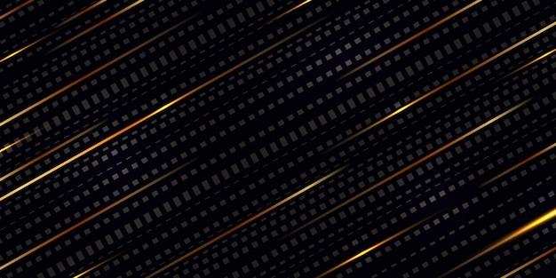 Diagonales strichmuster mit goldener linie