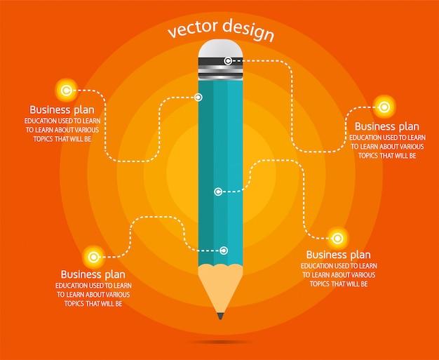 Diagramm business und bildung infographik vorlage