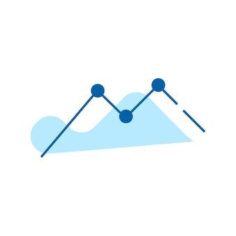 Diagramm, diagrammsymbol. symbol für finanzstatistiken. flache artvektorillustration lokalisiert auf weißem hintergrund