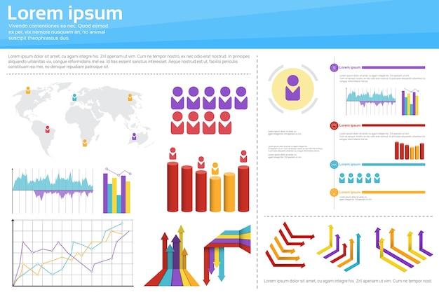 Diagramm-gesetztes finanzdiagramm infographic-ikone
