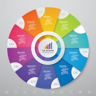 Diagramm infografik für datenpräsentation