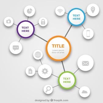 Diagrammvorlage mit verschiedenen icons