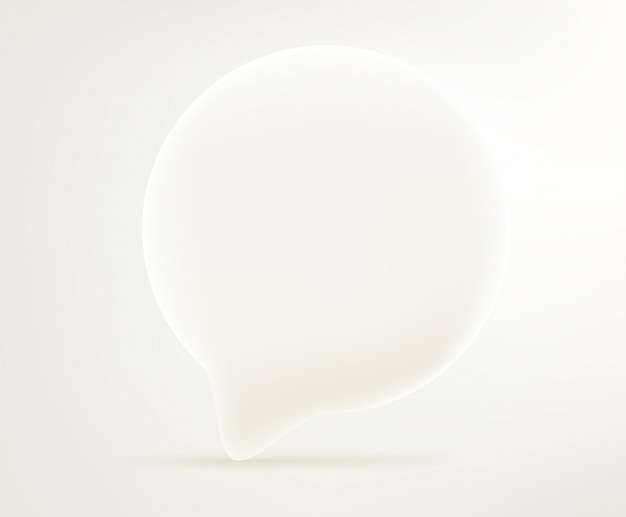 Dialogblasensymbol. editierbare vektorillustration des comic-stils 3d