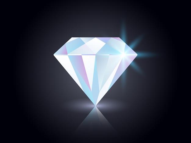 Diamant auf dunklem hintergrund.