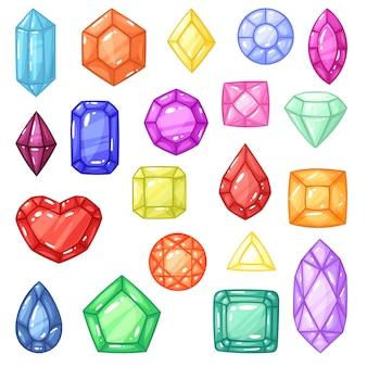 Diamant edelstein und edelstein oder kristallstein für schmuck illustration