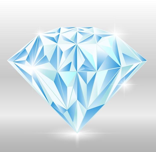 Diamant-edelstein-vektor-design-licht