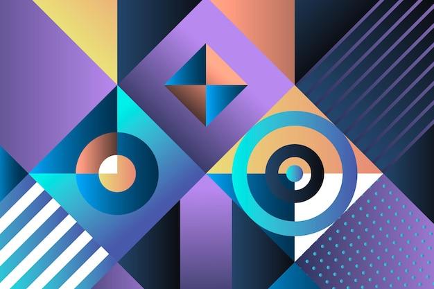 Diamant formt geometrischen hintergrund mit farbverlauf