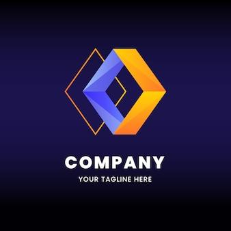Diamant formt logo geschäftsvorlage