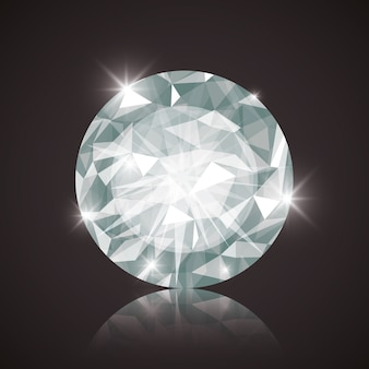 Diamant-konzept mit icon-design