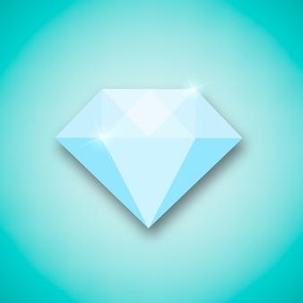 Diamant kreatives konzept.