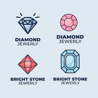 Diamant-logo-sammlung