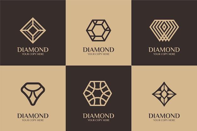 Diamant-logo-schablonenstil