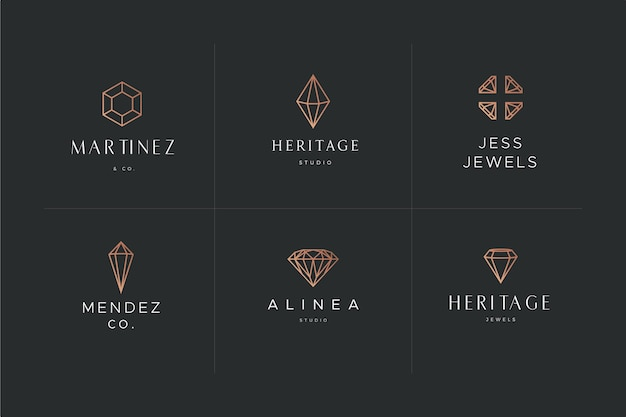 Diamant logo vorlage thema