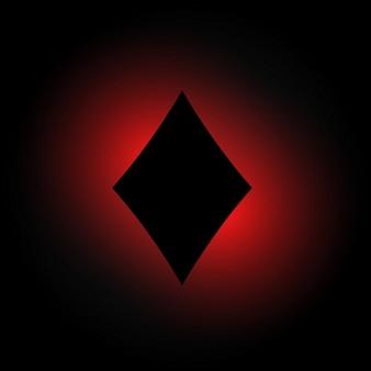 Diamantform in dunkel leuchtenden hintergrund