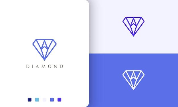 Diamantkompass-logo im einfachen und modernen stil