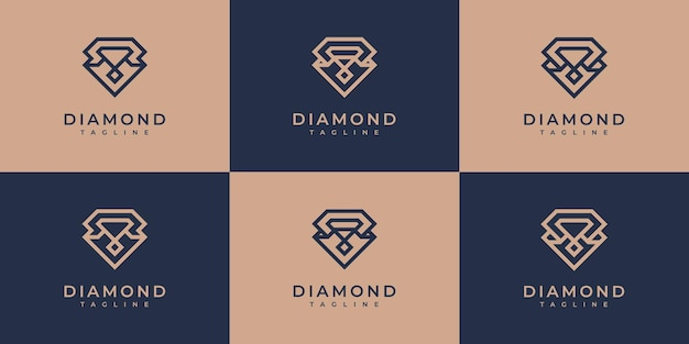 Diamond-logo-sammlung.