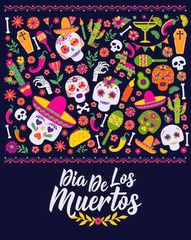 Dias de los muertos. mexiko design für fiesta