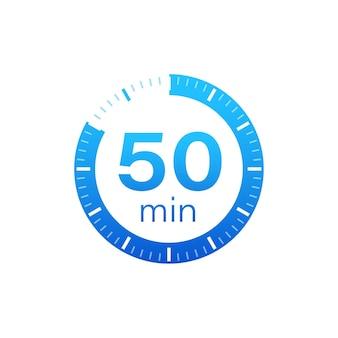 Die 50 minuten, stoppuhr-vektorsymbol