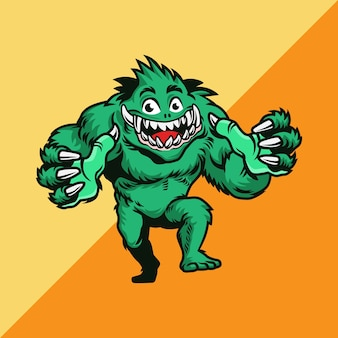 Die abbildung zeigt ein grünes monster. illustration.
