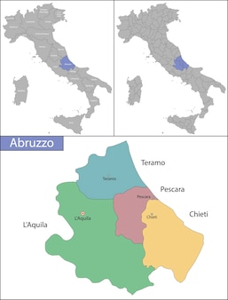 Die abruzzen sind eine region italiens auf der südlichen halbinsel des landes