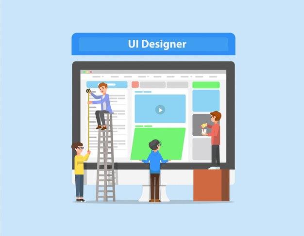 Die aktivitäten von designern von benutzeroberflächen