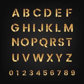 Die alphabet- und zahlensystemvektoren